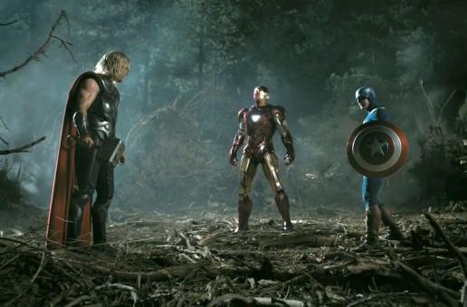 Thor, Iron Man y Capitán América