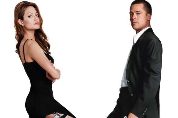 Angelina Jolie y Brad Pitt en Sr. y Sra. Smith