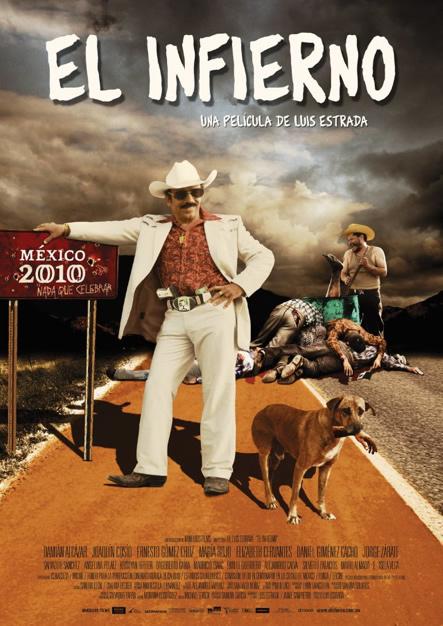 Cartel de El infierno de Luis Estrada