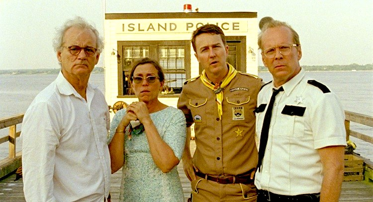Bruce Willis, Edward Norton, Bill Murray y Frances McDormand