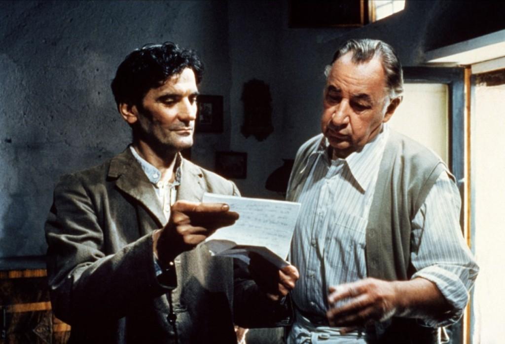 Massimo Troisi y Philippe Noiret en El Cartero y Pablo Neruda