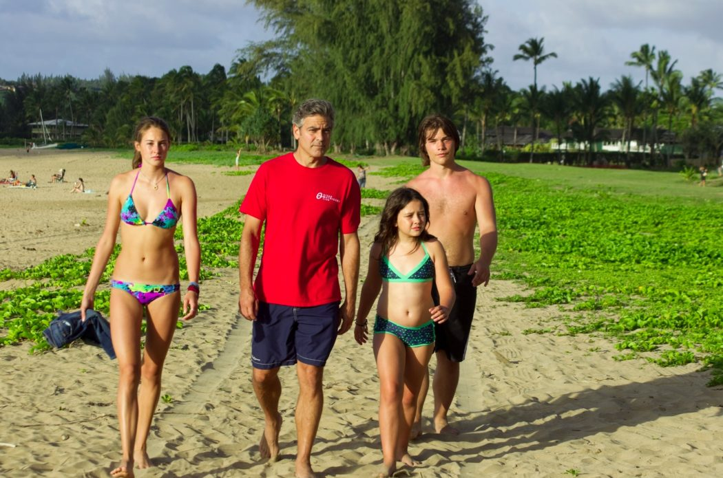 George Clooney, Shailene Woodley, Amara Miller, Nick Krause