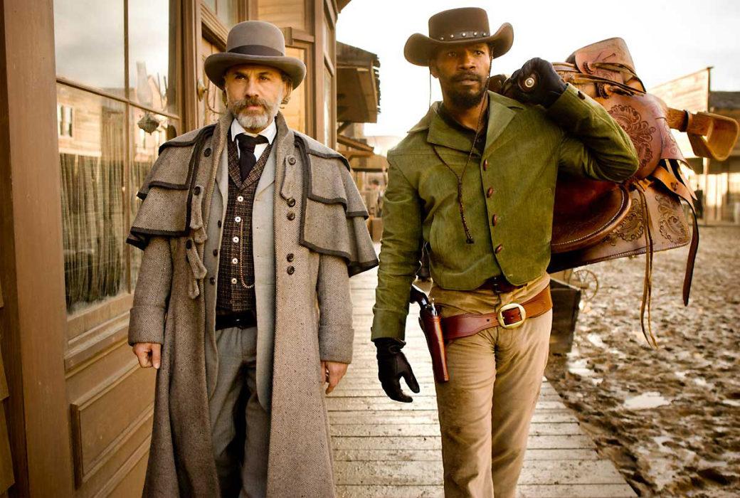 Christoph Waltz y Jamie Foxx en Django Unchained
