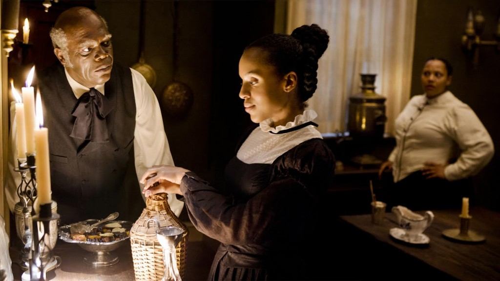 Kerry Washington y Samuel L. Jackson en Django Unchained