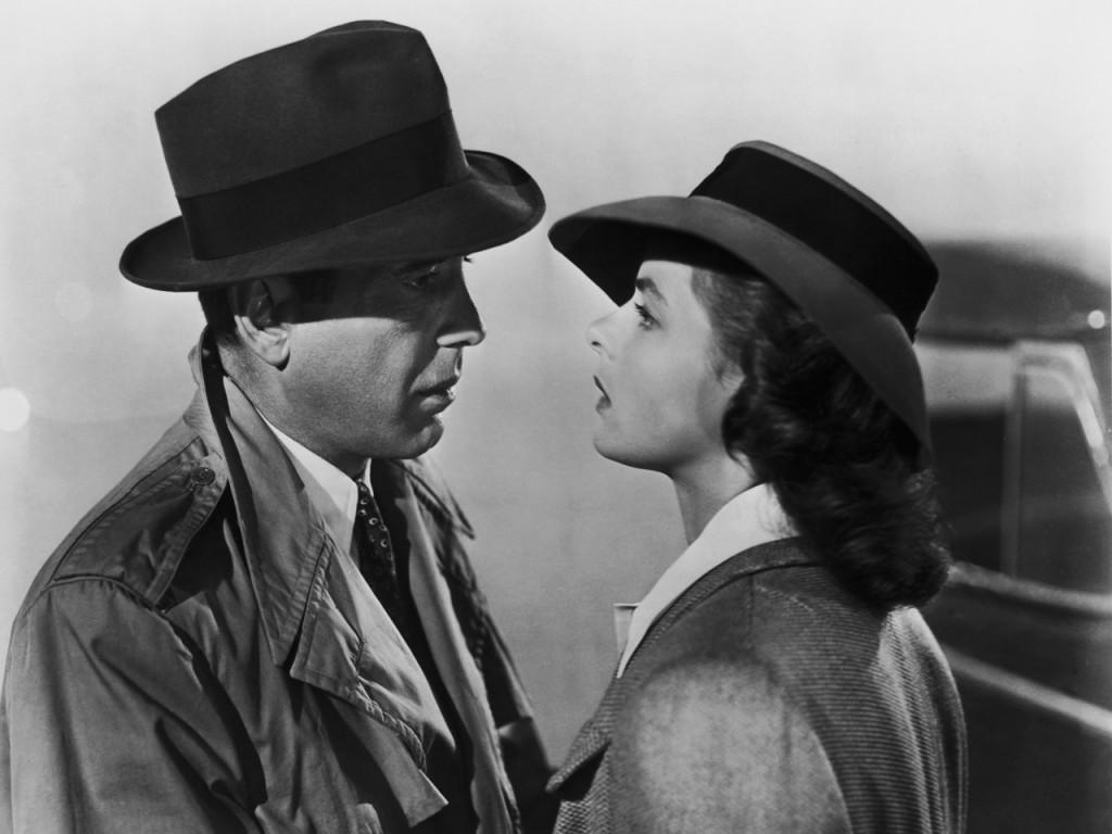 Humphrey Bogart e Ingrid Bergman al final de Casablanca