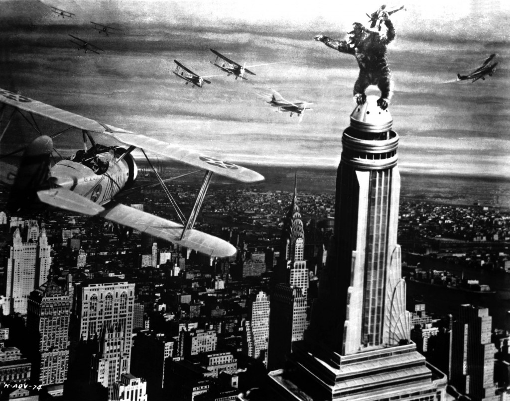 king kong en lo alto del empire state