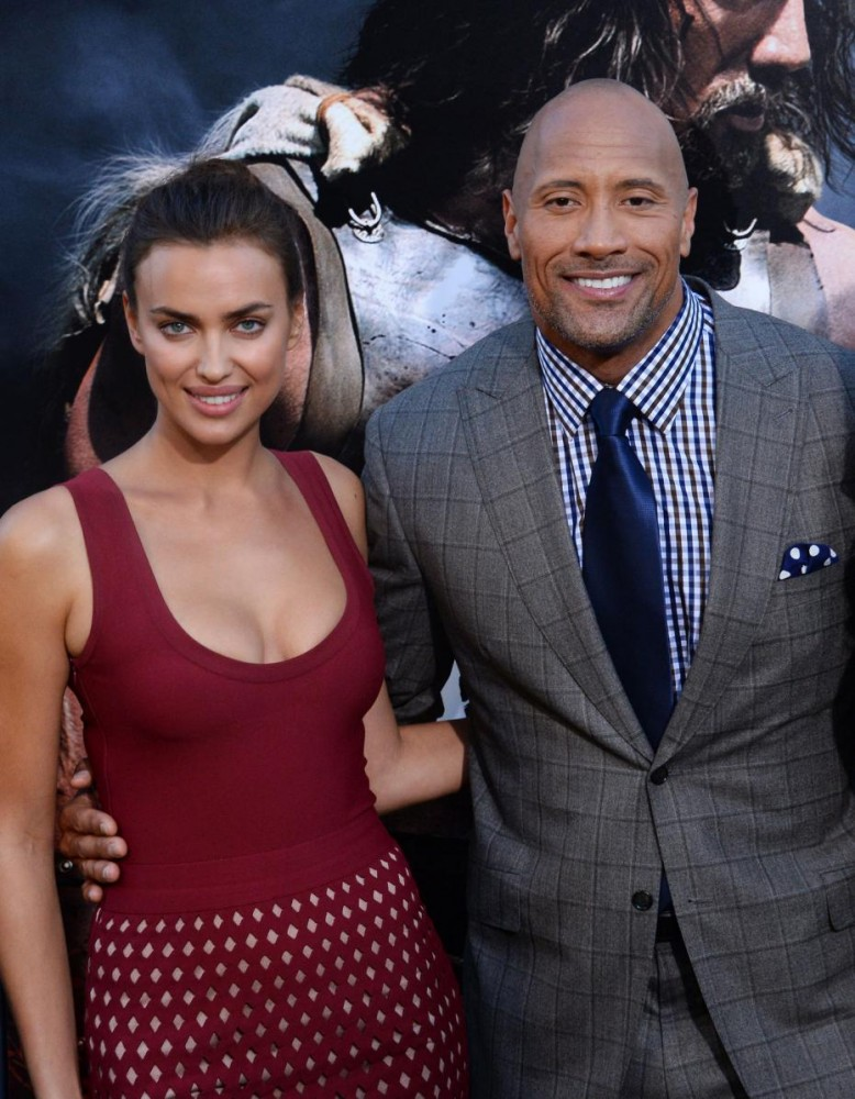 "Premiere Hercules: Dwayne ""The Rock"" Johnson e Irina Shayk"