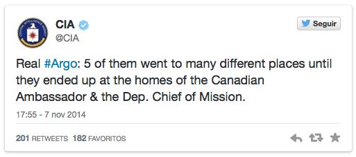 Tweet de la CIA