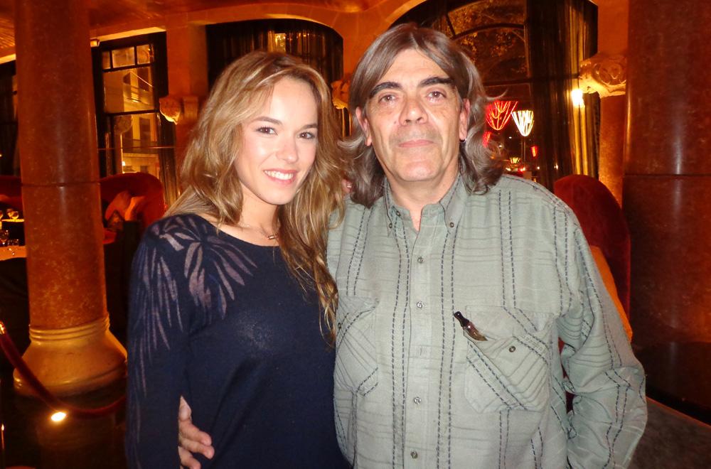 Élodie Fontan y nuestro colaborador Josep Lluis Mestres