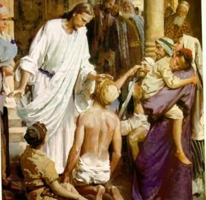 Jesús haciendo milagros